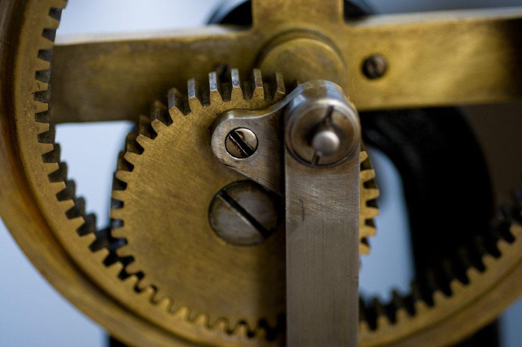 遊星歯車利用の回転運動・直線運動変換機構